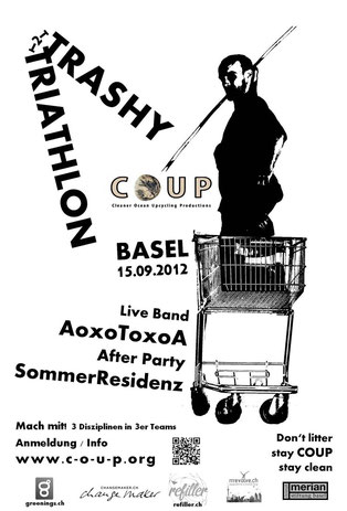 Trashy Triathlon, COUP, Basel, Anti Littering, clean up. rise awareness