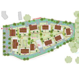 Ville d'Haux (33), projet d'aménagement urbain et d'habitat participatifs