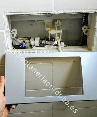 cisterna, empotrada, reparación, gotea,pierde,agua.