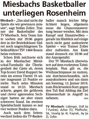 Bericht im Miesbacher Merkur am 18.12.2018 - Zum Vergrößern klicken