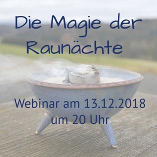 Die Magie der Raunächte - Webinar am 13.12.2018 von Ivana Drobek,  spirituelle Lebensberatung, Coaching, Anbieter im Netzwerk freie, ganzheitliche Berater, Coaches und Therapeuten - #lieberfrei