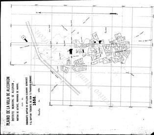 Plano militar de Alcorcón año 1858