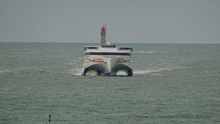 HSC Condor Liberation entrant dans le port de Saint-Malo.