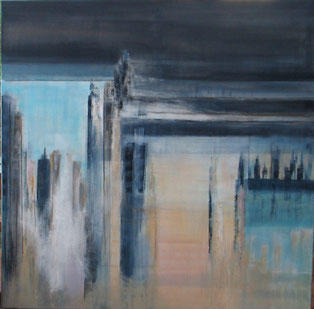 Blue window - 100 x 100