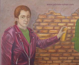 Amadeus Mozart, classical musician, grafiti, sprayer