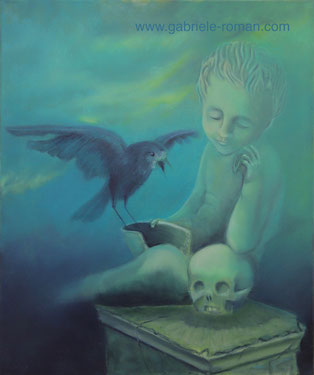 Nevermore, Oil Glazing technique, highlighting with egg tempera on canvas, 50x60cm, 2015