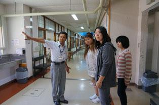 特別養護老人ホームなどの施設を見学しました。