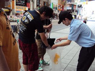 店舗周辺の清掃活動のお手伝い