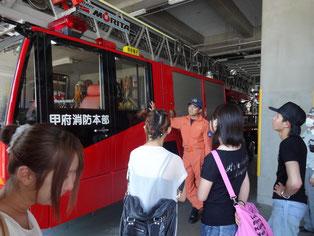 高機能梯子消防車です。県内ではここにしか無いそうです。