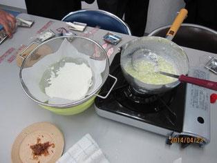 生徒が作ったチーズ。