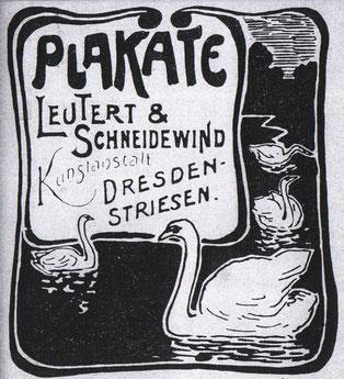 Plakate - Lautert und Schneidewind 1900? Inserat?