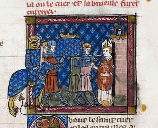 L'église de Montreale reçoit les reliques (entrailles) de Louis IX.