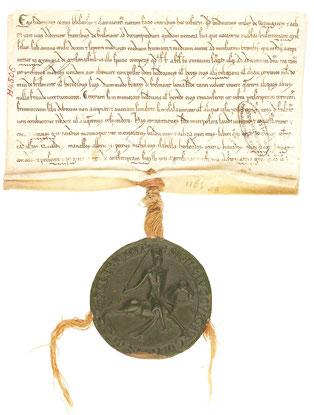 Sceau équestre du comte de Clermont, 1202. Temple de Paris
