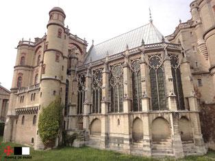 La chapelle vue de l'extérieur du château de Saint-Germain-en-Laye.
