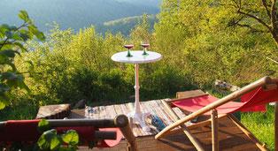 Blick von der Terrasse der Juval Alp