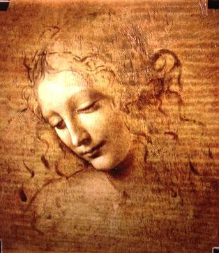 "Adaptación ""Cabeza de mujer"" de Leonardo da Vinci"