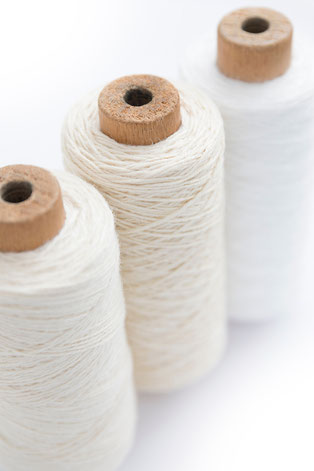 organic cotton yarn for wrap and baby carriers.