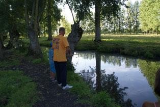 Pêche dans le Marais Poitevin