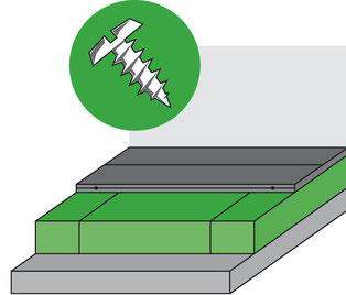 Konstruktion Massivholzdiele mit Trittschalldämmung