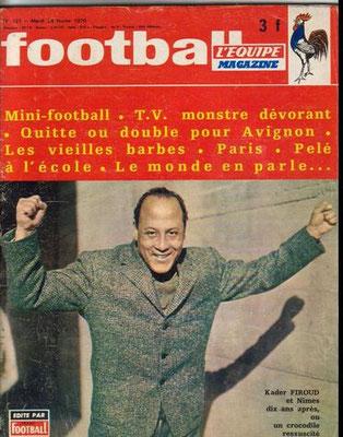 football-magazine du 24 02 1970