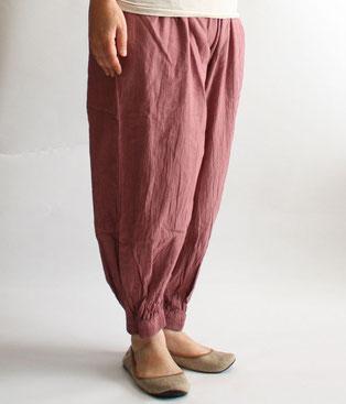 ヂェン先生の日常着 バルーンパンツスリム ピンク