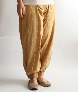 ヂェン先生の日常着 バルーンパンツスリム カラシ