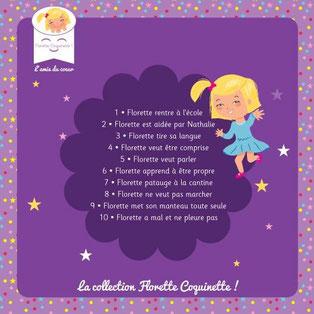4e de couverture de Florette coquinette, une petite fille de 4 ans atteinte de trisomie 21