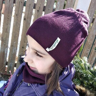 Детски шапка и шал