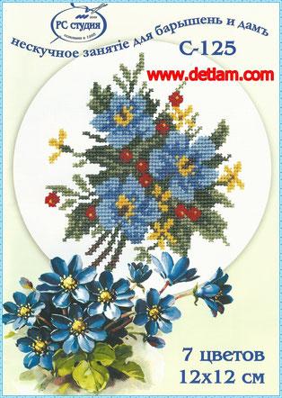 """Схема для вышивания """"Букет цветов"""" на сайте www.detiam.com"""