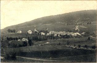 Le Gîte de Giron dans l'Ain. Vue aérienne de l'emplacement de la maison du Gîte De Giron avant sa construction