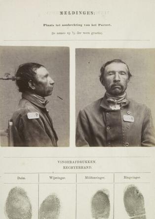 Signalementkaart Veenhuizen opname: 19-05-1896