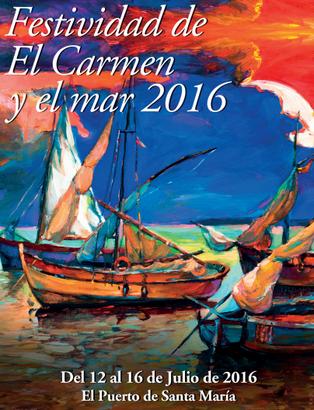 El Carmen y el mar en el Puerto de Santa María