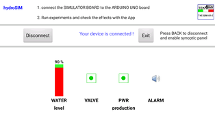 3. Use of the App with data received from the simulator