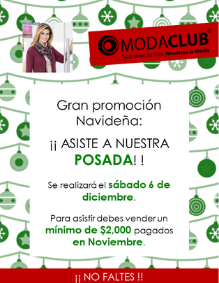 invitacion posada moda club 2014 diciembre 6