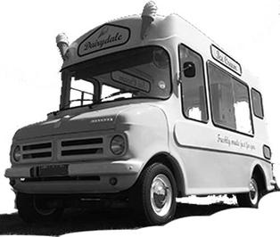 Photo of vintage 1970s ice cream van