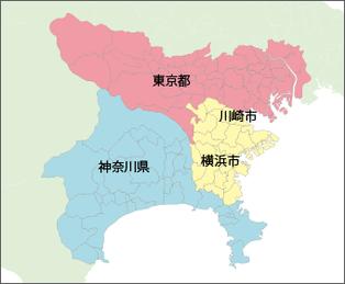 サービス提供エリア 横浜市・川崎市・東京23区