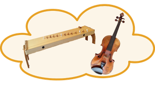 Wolke mit Geige und Kotamo
