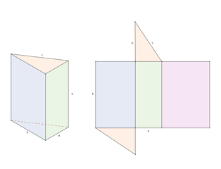 prisma retto a base triangolare: assonometria e sviluppo