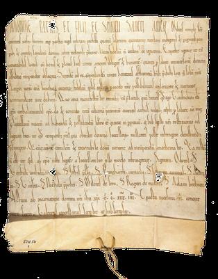 Geoffroy 1er, évêque de Châlons donne aux frères de La Neuville-au-Temple
