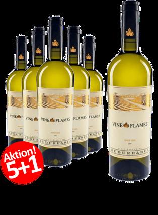 6-ER Weinpaket Budureasca The Vine in Flames Pinot Gris 2016