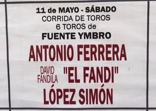 Toros de Fuente Ymbro pour Antonio Ferrera, El Fandi, Lopez Simon