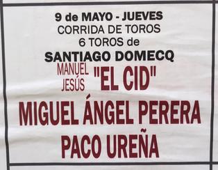 Toros de Santiago Domecq pour El Cid, M.A. Perera, Paco Ureña