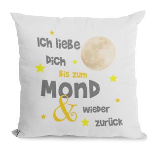 Kissen Ich liebe Dich bis zum Mond