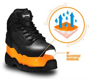 Questa nuova membrana impermeabile e traspirante è la massima protezione che mantiene i tuoi piedi asciutti eliminando l'umidità e non fa penetrare l'acqua all'interno, per darti il massimo comfort, più a lungo.