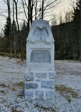 Das restaurierte Monument im Frühjahr 2020.