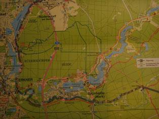 "Kartenausschnitt aus ""66-Seen-Weg"" vom Dr. Barthel Verlag"