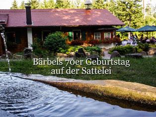 Geburtstag Bärbel Greve auf der Sattelei-Wanderhütte. Foto Rainer Sturm