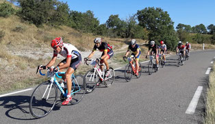 En poursuite 50 km avec Monnet, Balez, Audebert et Gilbert