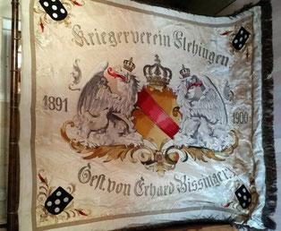 Fahne des Flehinger Kriegervereins, die vor 100 Jahren noch öffentlich gezeigt wurde.