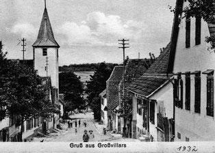 Ansichtskarte von 1932 aus dem Ortsfamilienalbum Großvillars